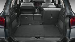 C3 Aircross restyling, il bagagliaio con i sedili frazionati