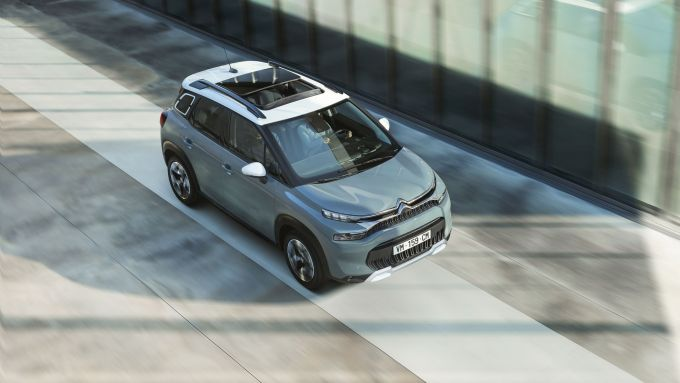 C3 Aircross restyling, visuale dall'alto