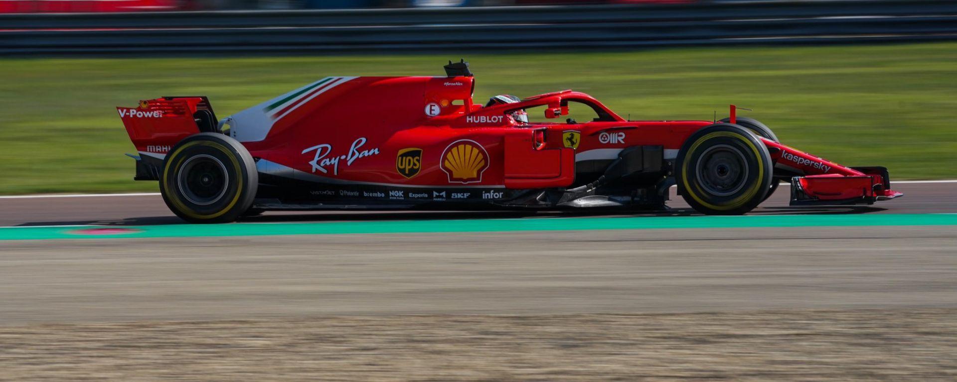 Callum Ilott al volante della Ferrari SF71H a Fiorano nel 2020