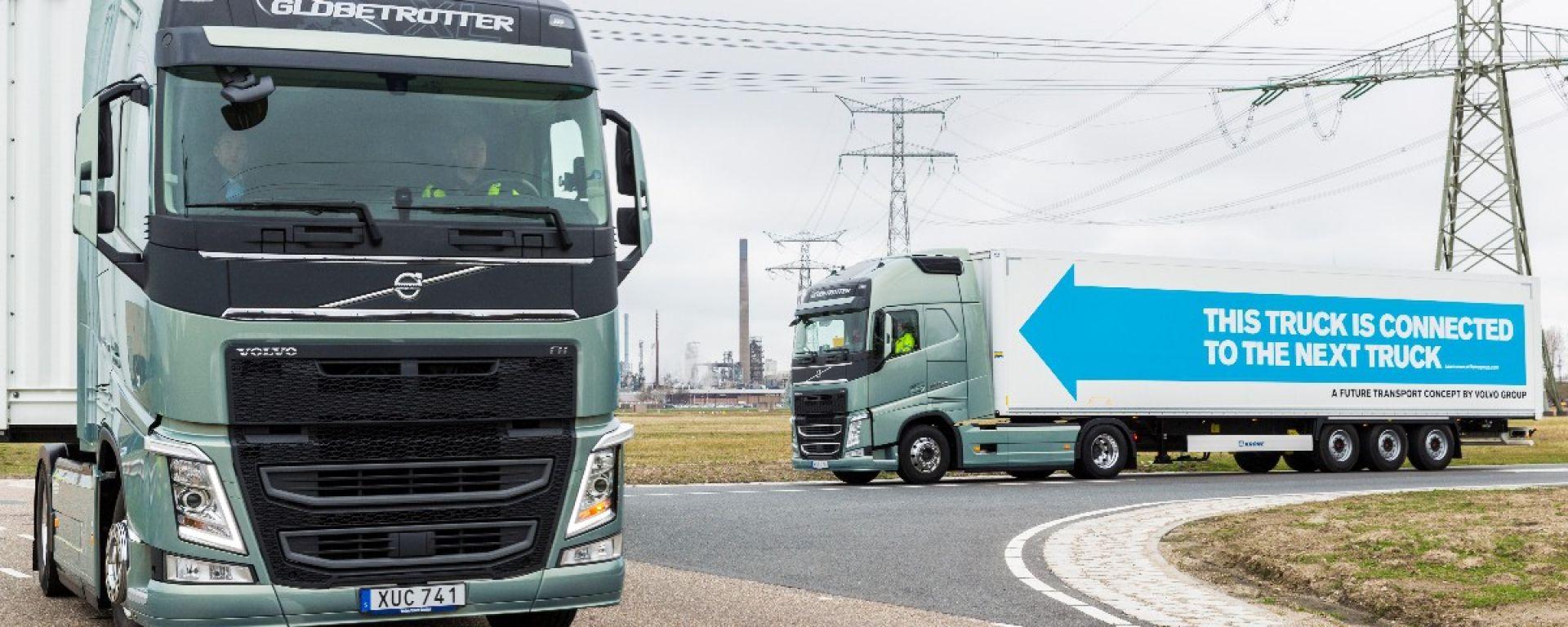 I camion robot di DAF, Daimler, Iveco, MAN, Scania e Volvo attraversano l'Europa