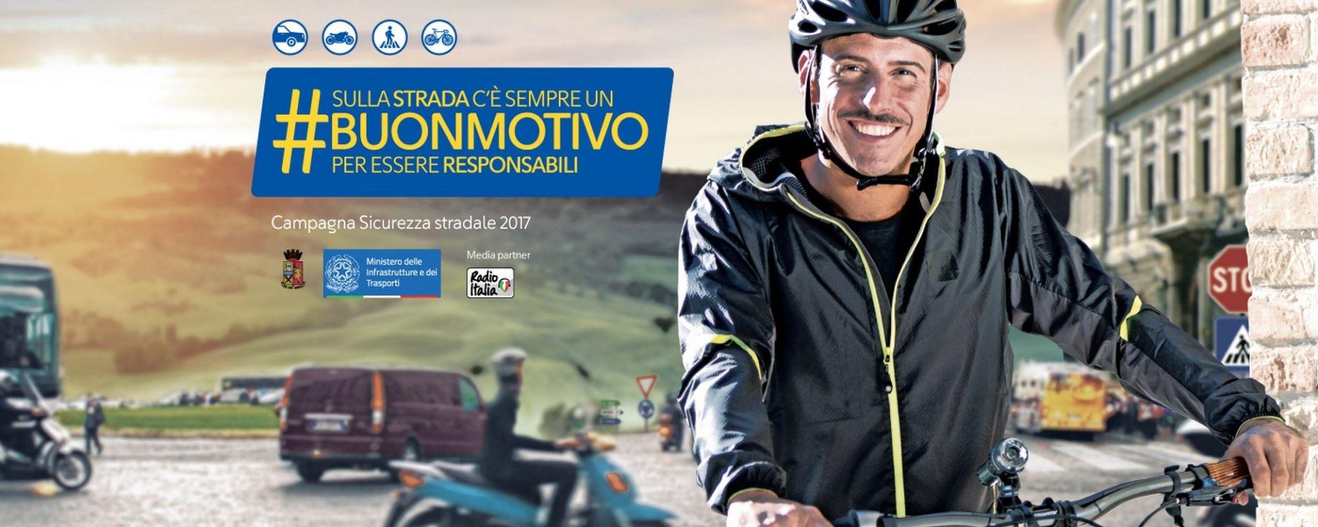 Campagna ANAS #buonmotivo, la locandina con Francesco Gabbani