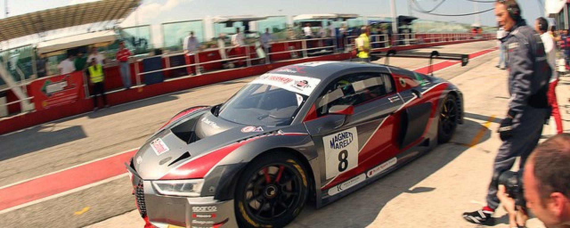 Campionato italiano GT, Misano, Gara 2: settimo posto per Audi Sport Italia