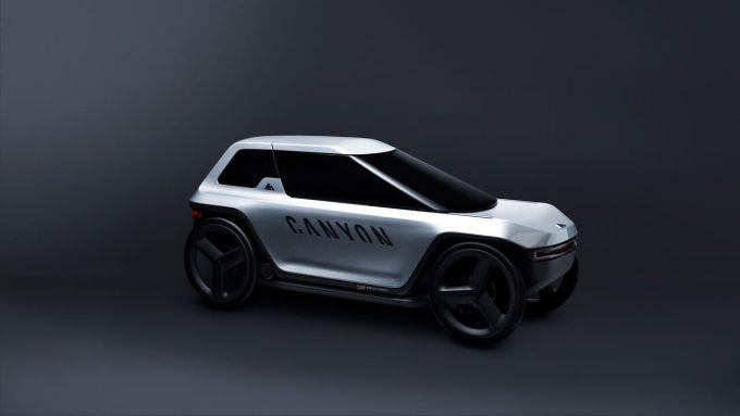 Canyon Future Mobility Concept: visto di 3/4 anteriore