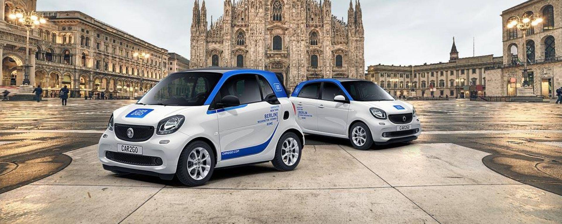Car2go si rinnova: a Milano sbarcano 750 nuove smart fortwo e 50 forfour