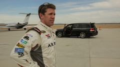 Carl Edward con la Toyota Land Cruiser speciale, ribattezzata Toyota Land Speed Cruiser