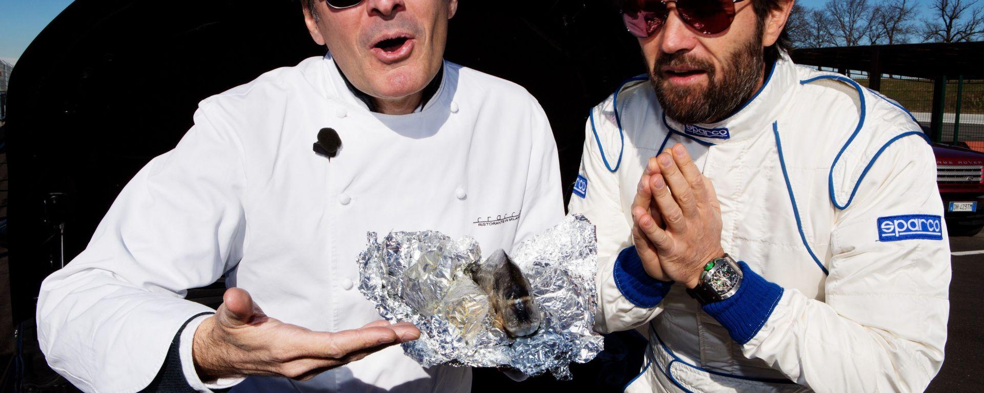 Carlo Cracco, guida gastronomica della Audi TT