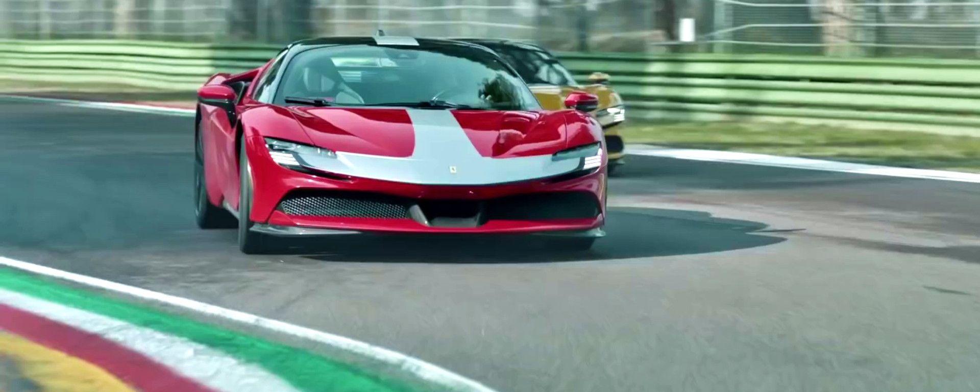 Carlos & Charles: Sainz e Leclerc in pista a Imola con le Ferrari SF90 stradali