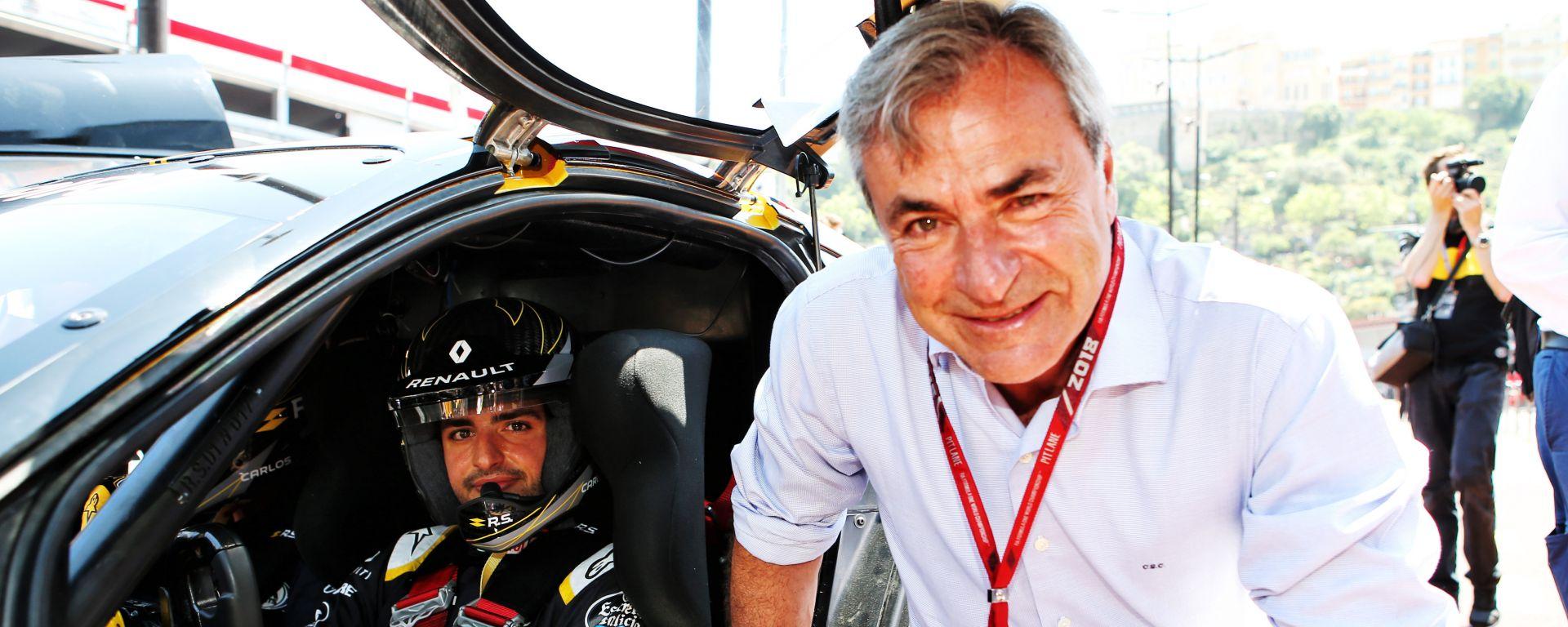 Carlos Sainz in compagnia del figlio, Carlos Sainz Junior