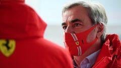 Carlos Sainz, leggenda dei rally e padre dell'omonimo pilota Ferrari, era presente a Fiorano