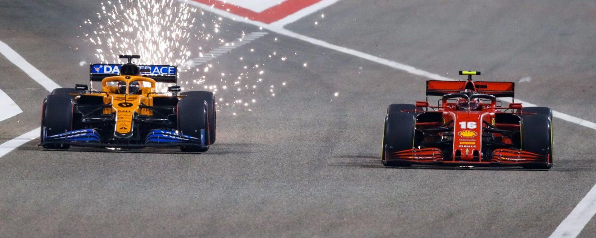 Carlos Sainz (McLaren) e Charles Leclerc (Ferrari)