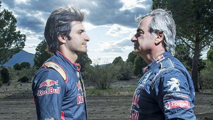 Carlos Sainz Sr e Jr, una coppia molto affiatata: il primo leggenda di rally e Dakar, il secondo pilota di Formula 1