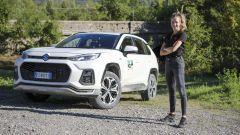 Carolina Kostner con la nuova Suzuki Across