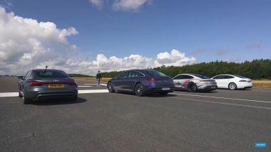 Carwow: sfida fra sportive EV sul quarto di miglio