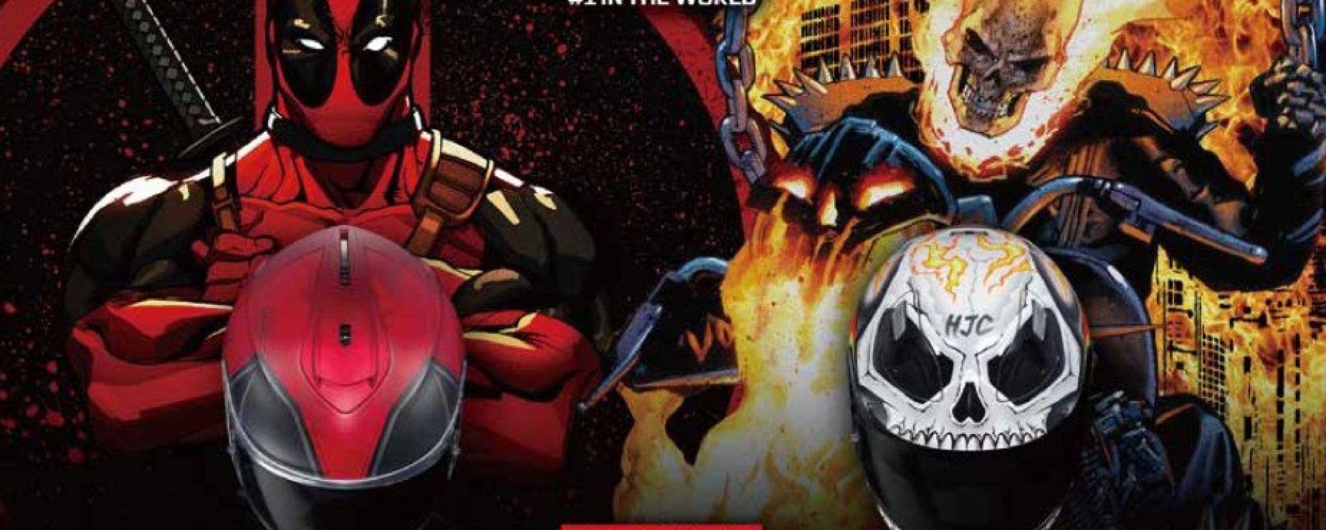 HJC Deadpool e Ghost Rider: due nuove grafiche per la collezione Marvel