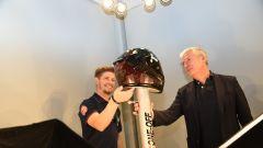Casey Stoner ammira insieme a Alberto Vergani il nuovo X-802RR a lui dedicato