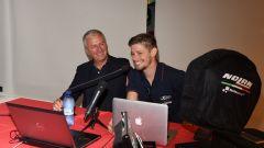 Casey Stoner con Alberto Vergani, Presidente di Nolangroup
