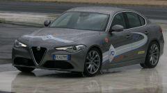Centro Guida Sicura ACI-Sara di Lainate (MI): una fase del corso con l'Alfa Romeo Giulia