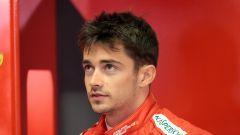 Charles Leclerc al box Ferrari a Monza