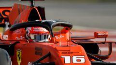 Charles Leclerc al debutto sulla Ferrari SF90 nei test di Barcellona