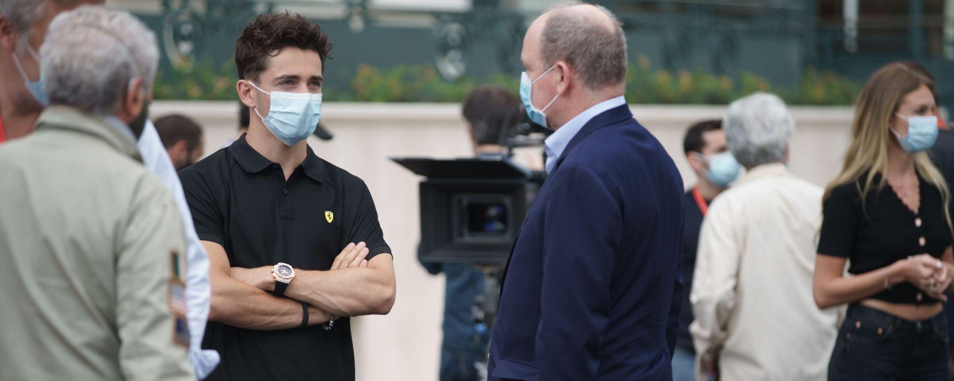 Charles Leclerc con il Principe Alberto II di Monaco