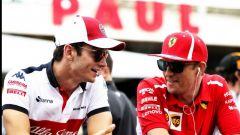 Charles Leclerc e Kimi Raikkonen, i due piloti hanno scambiato i loro sedili tra Sauber e Ferrari