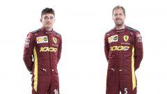 Charles Leclerc e Sebastian Vettel on le tute Ferrari per il 1000° GP