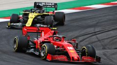 Charles Leclerc (Ferrari) e Daniel Ricciardo (Renault)