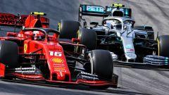Charles Leclerc (Ferrari) e Valtteri Bottas (Mercedes)