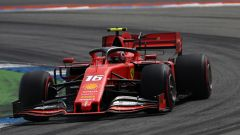Charles Leclerc (Ferrari) in pista ad Hockenheim