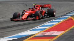 Charles Leclerc (Ferrari) in pista in Germania