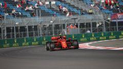 Charles Leclerc (Ferrari) in pista in Russia