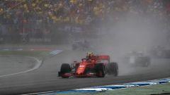 Charles Leclerc (Ferrari) in pista sul bagnato ad Hockenheim