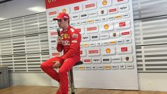Charles Leclerc in conferenza stampa a Barcellona