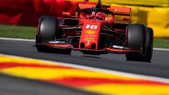 Charles Leclerc in pista a Spa nelle qualifiche 2019