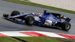 Charles Leclerc sulla Sauber C36 in Malesia