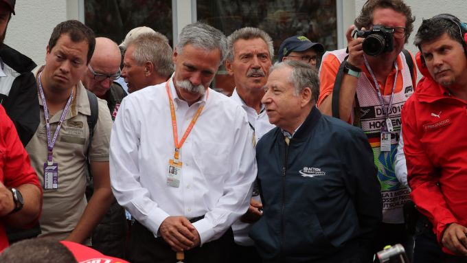 Chase Carey (Liberty Media) e Jean Todt (FIA)