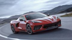 Chevrolet Corvette C8 Stingray 2020, il frontale