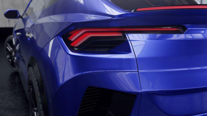 Chevrolet Corvette Stingray SUV: particolare dei fanali posteriori