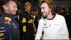 Christian Horner e Fernando Alonso