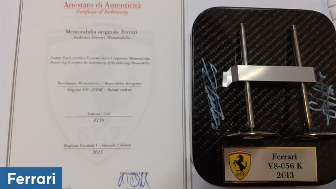 Christmas Lovers Auction: le valvole della F1 2013