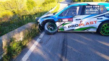 CIR 2021, Targa Florio: l'incidente di Stefano Albertini (Skoda)