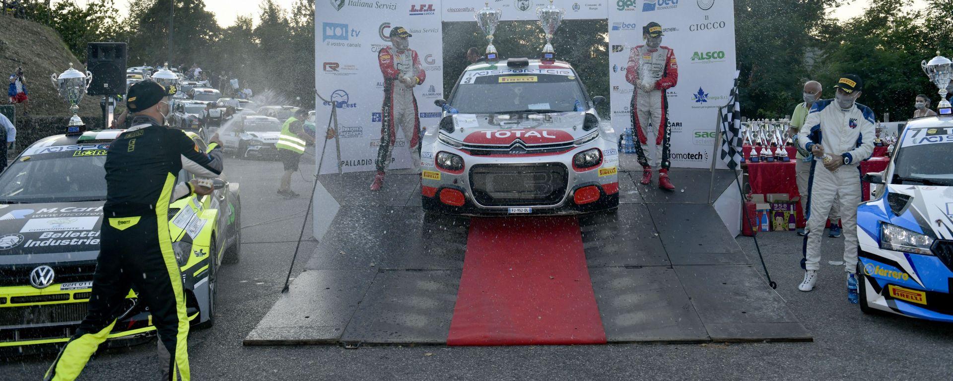 CIR, Rally Il Ciocco 2020: Andrea Crugnola (Citroen C3 R5) festeggia sul podio