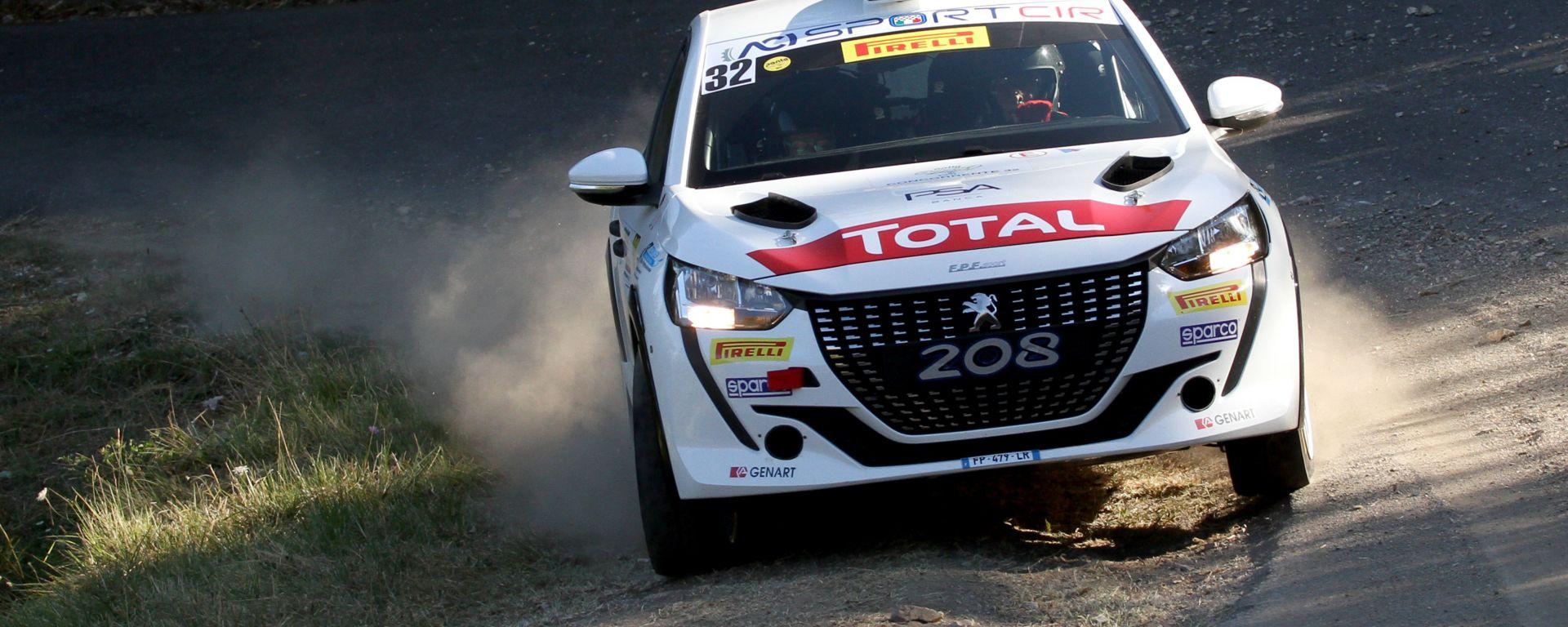 CIR, Rally Il Ciocco 2020: Paolo Andreucci (Peugeot 208 Rally 4 R2B) in azione