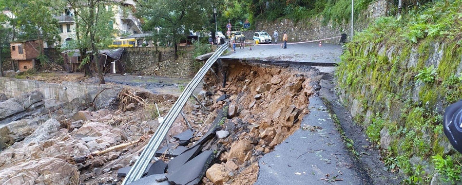 CIR, Rallye Sanremo 2020: una strada franata per la forte pioggia
