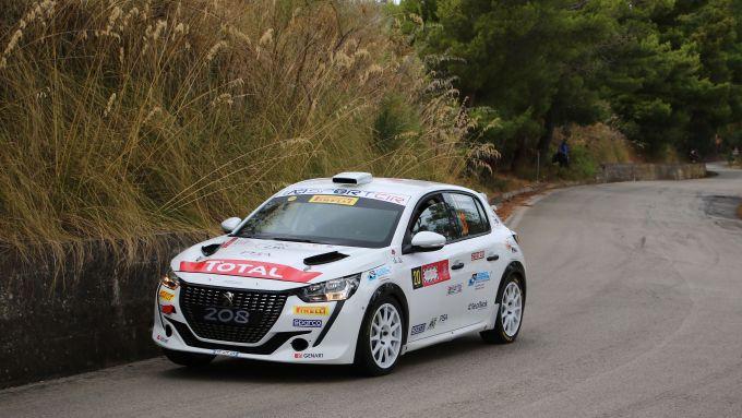 CIR, Targa Florio 2020: Paolo Andreucci (Peugeot 208 Rally4) nello shakedown
