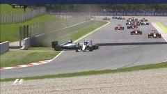 Circuito di Barcellona-Catalunya - il contatto 2016 tra Hamilton e Rosberg