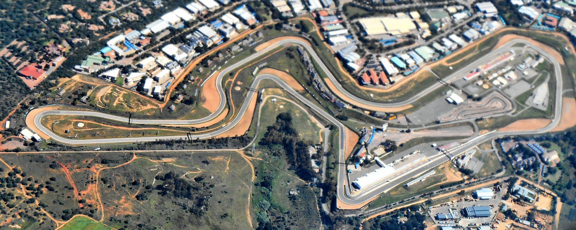Circuito di Kyalami visto dall'alto