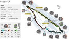 Circuito di Montreal - mappa del tracciato