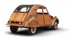 Citroën 2CV di legno by Michel Robillard: vista 3/4 posteriore