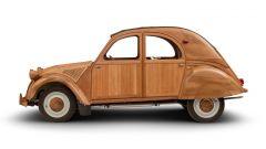 Citroën 2CV di legno by Michel Robillard: vista laterale